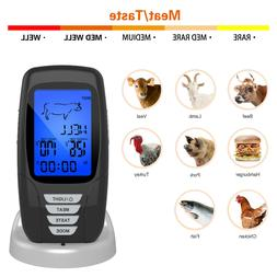 Wireless Digital LCD Cooking Food Meat Thermometer for BBQ G