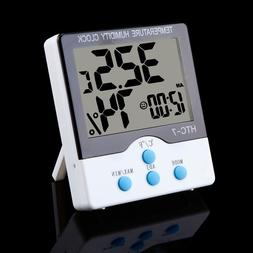 wireless digital temperature indoor and humidity clock