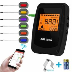 Wireless Meat Grill Thermometer Bluetooth Adapter for iOS&An