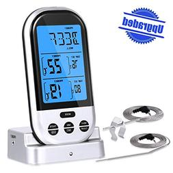 Wireless Digital Meat Thermometer, Upgraded Grill Thermomete