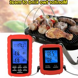 Wireless Meat Thermometer Remote Digital BBQ Thermometer Wit