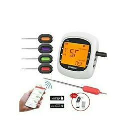 Wireless Meat Thermometer for Grilling, Bluetooth Meat Therm