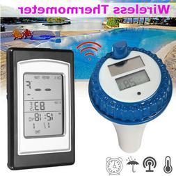 Wireless Solar Swimming Pool Thermometer Indoor Temperature