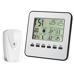 AMIR Wireless Weather Station, Digital Indoor Outdoor Thermo