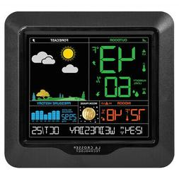 Wireless Weather Station Clock Calendar Forecast Indoor Outd