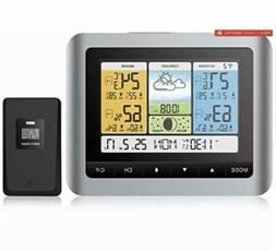 Qomolo Wireless Weather Station, Indoor Outdoor Thermometer