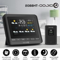 DIGOO Wireless Weather Station LCD Thermometer Barometer Hum