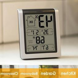 Wireless Weather Station LCD Touch Thermometer Barometer Hum
