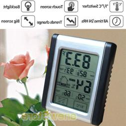 wireless weather station lcd touch thermometer barometer
