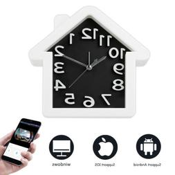 Wireless Wifi Hidden Camera Motion Safety Alarm Clock For An