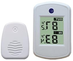 Ambient Weather WS-04-WHITE Wireless Thermometer with Indoor