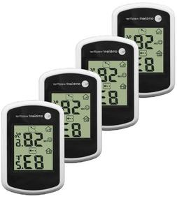 Ambient Weather WS-03-4 Compact Indoor Temperature and Humid